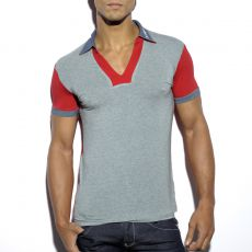 POLO RETRO EN MODAL PRINTED ROUGE TS164 - ES COLLECTION