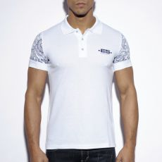POLO BLANC SLEEVE PRINTED POLO11 - ES COLLECTION