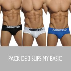 PACK DE 3 SLIPS MY BASICS COLOR - ADDICTED