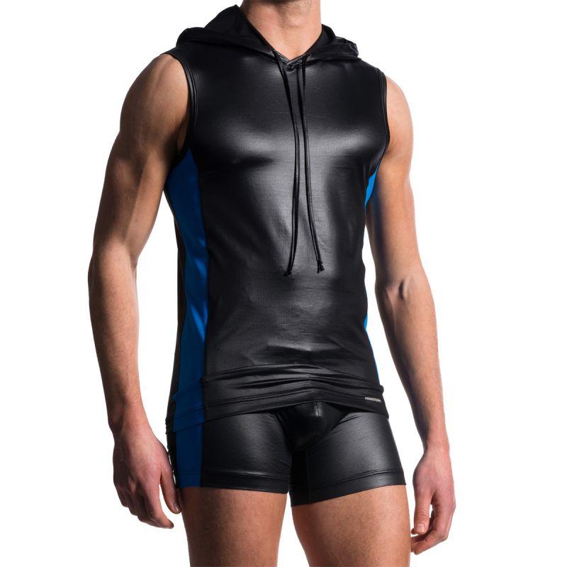 Veste sans manches a capuche technique noir/