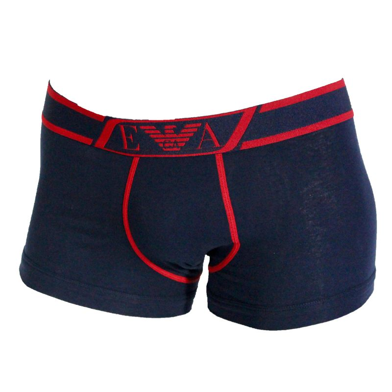 boxer shorty navy nouvelle ceinture de taille rouge armani. Black Bedroom Furniture Sets. Home Design Ideas