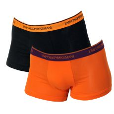 PACK DE 2 BOXERS BASICS NOIR / ORANGE  - ARMANI