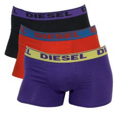 PACK DE 3 BOXERS NOIR/VIOLET/ORANGE - FRESH & BRIGHT - DIESEL