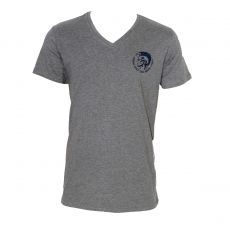 T-SHIRT GRIS COL V  TETE MOHICAN   - DIESEL