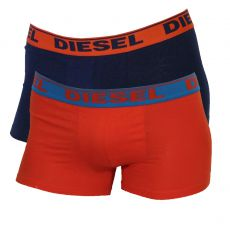 PACK DE 2 BOXERS COTON NAVY ET ORANGE  - DIESEL