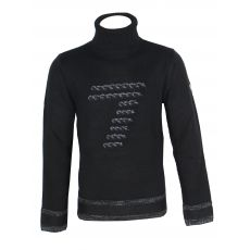 PULL OVER / SWEAT GRIS TENDANCE TRICOT NOIR - EA7
