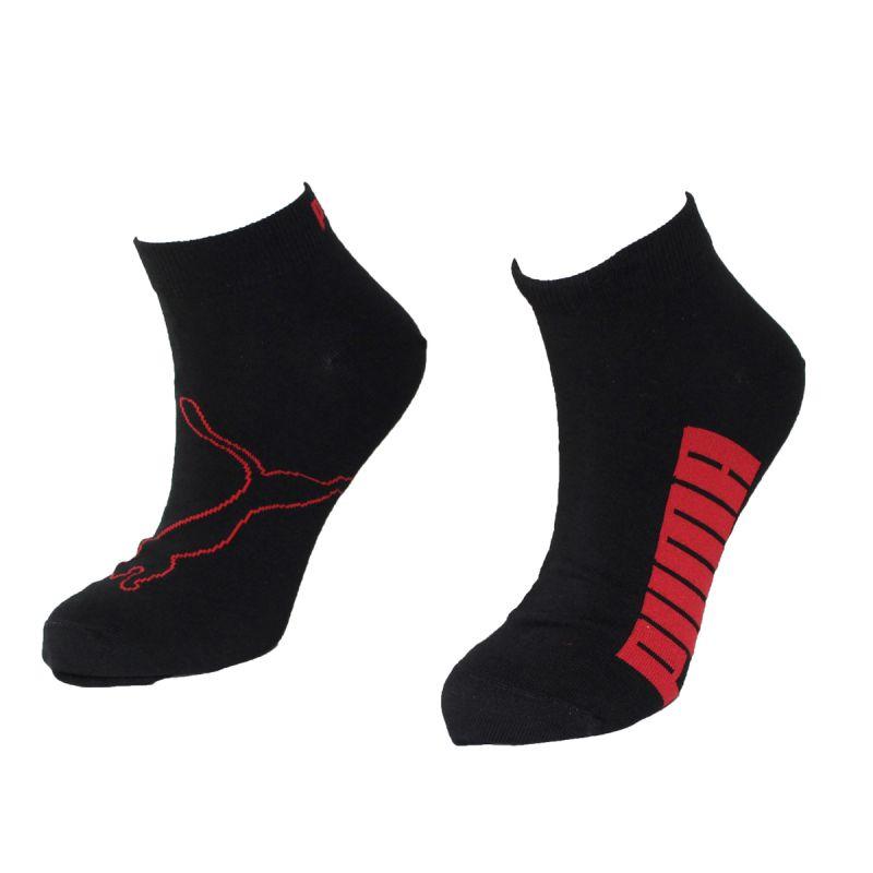 3fb0b923baff1 Lot de 2 paires chaussettes quarter noir logo rouge - puma ...