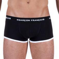 BOXER SHORTY COTON NOIR  - GARCON FRANCAIS