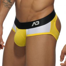 SLIP JAUNE BOTTOMLESS CONTRAST MESH AD447 - ADDICTED