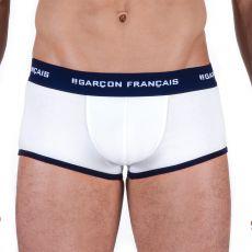 BOXER SHORTY COTON BLANC  - GARCON FRANCAIS