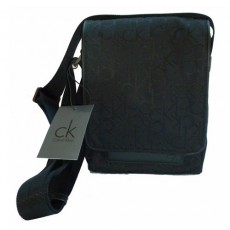 CKJ – BESACE TISSU JACQUARD NOIR – SMALL BAG