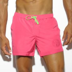 SHORT DE BAIN COURT BASIC FUSHIA 1721 - ES COLLECTION