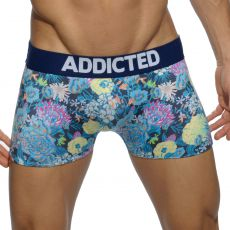 BOXER NAVY MICROFIBRE FLORAL DIGITAL  AD517 - ADDICTED