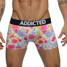 BOXER NOIR MICROFIBRE FLORAL DIGITAL  AD517 - ADDICTED