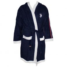 PEIGNOIR NAVY A CAPUCHE - US POLO