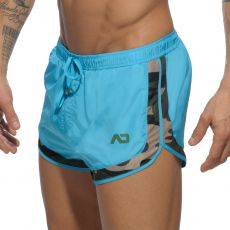 SHORT DE BAIN TURQUOISE CAMOUFLAGE DETAIL ROCKY  ADS121 - ADDICTED
