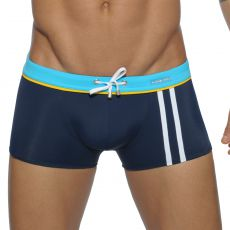 BOXER DE BAIN  NAVY SPORT DETAIL BINDING  ADS133 - ADDICTED