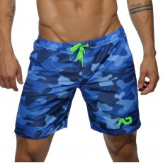 SHORT DE BAIN CAMOUFLAGE NAVY MI LONG ADS095 - ADDICTED
