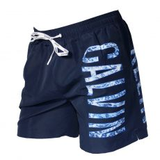 SHORT DE BAIN NAVY LARGE LOGO VERTICAL BLUE SHADOW - CALVIN KLEIN
