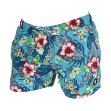 SHORT DE BAIN COURT FLORAL TURQUOISE  - US POLO ASSN