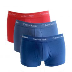 PACK DE 3 BOXERS COURTS COTON ORANGE/NAVY/BLEU - CALVIN KLEIN