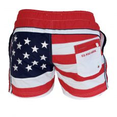SHORT DE BAIN COURT USA FLAG ROUGE - US POLO ASSN
