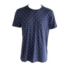 T-SHIRT INTERIEUR NAVY MANCHES COURTES MOTIFS ANCRES - TOMMY HILFIGER