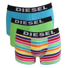 PACK DE 3 BOXERS TURQUOISE/VERT/MULTICOLORE - THE SEASONAL - DIESEL