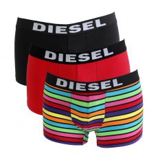 PACK DE 3 BOXERS NOIR/ROUGE/MULTICOLORE - THE SEASONAL - DIESEL