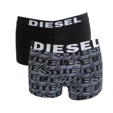 PACK DE 2 BOXERS NOIR A MOTIFS 3D - THE SEASONAL - DIESEL