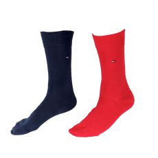 TOMMY - CHAUSSETTE PACK 2 PAIRES MARINEE / ROUGE UNIS