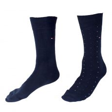 CHAUSSETTE PACK 2 PAIRES NAVY UNIES ET NAVY A POIDS  - TOMMY