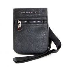 BESACE ESSENTIAL COMPACT CROSSOVER  NOIR  - TOMMY HILFIGER
