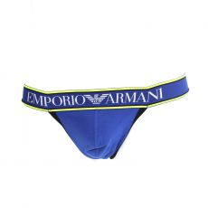 JOCK STRAP BLEU ROYAL/NOIR MAGNUM STYLE PUSH UP - ARMANI