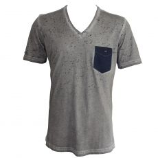 a1071d242c3e T-shirt stretch big eagle col rond gris - emporio armani ...