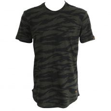 T-SHIRT MAGMA CAMOUFLAGE VERT COL ROND   - KAPORAL