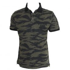 POLO MESH CAMOUFLAGE VERT  - KAPORAL