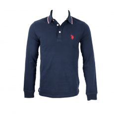 POLO MANCHES LONGUES NAVY  - US POLO ASSN