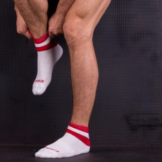 BARCODE - CHAUSSETTES PETTY BLANCHE ET ROUGE