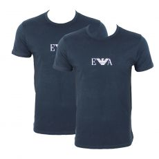 PACK DE 2 T-SHIRT NAVY GIROCOOLO COL ROND - ARMANI