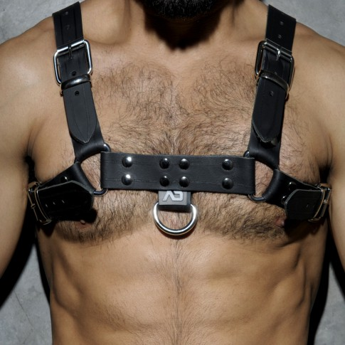 HARNESS LEATHER NOIR ADF30 - ADDICTED