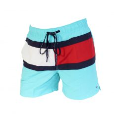 SHORT DE BAIN MEDIUM DRAWSTRING TURQUOISE 00497 - TOMMY HILFIGER