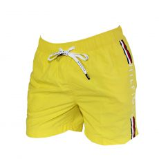SHORT DE BAIN MEDIUM DRAWSTRING JAUNE LOGO TOMMY VERTICAL 00657 - TOMMY HILFIGER