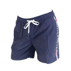SHORT DE BAIN MEDIUM DRAWSTRING NAVY LOGO TOMMY VERTICAL 00657 - TOMMY HILFIGER