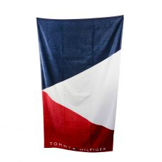 DRAP DE BAIN NAVY/BLANC/ROUGE UNISEX TOWEL - TOMMY HILFIGER