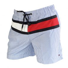 SHORT DE BAIN MEDIUM BLEU/BLANC STRIPES 00807 - TOMMY HILFIGER