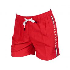 SHORT DE BAIN MEDIUM DRAWSTRING ROUGE TANGO LOGO TOMMY VERTICAL 00657 - TOMMY HILFIGER