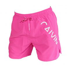 SHORT DE BAIN MEDIUM DRAWSTRING FUCHSIA SUGAR PLUM - CALVIN KLEIN