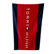 DRAP DE BAIN NAVY/ROUGE UNISEX TOWEL - TOMMY HILFIGER