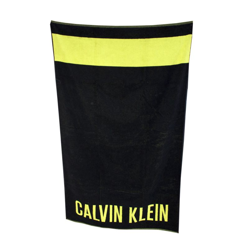 drap de bain serviette de plage noir towel calvin klein. Black Bedroom Furniture Sets. Home Design Ideas